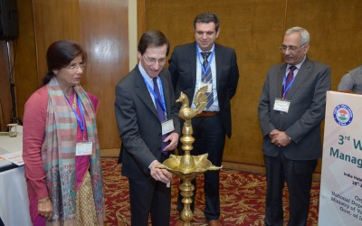 Lighting of Lamp by Prof. David Cowan, Director, DCC, King's College London
