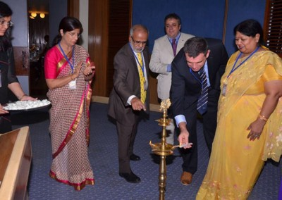 Lighting of the Lamp by Prof. Peter Van Eenoo, Director, DoCoLab, Ugent, Belgium
