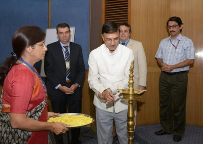 Lighting of the Lamp by Secretary (Sports) & CEO, NDTL